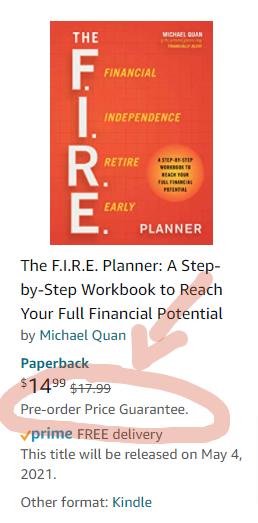 The F.I.R.E. Planner - Pre-order Price Guarantee